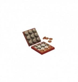 Mold for nougatine 9 tarts-H90mm