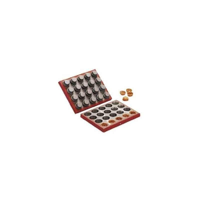 Moule chocolat Père Noël avec hotte-180mm