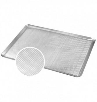 Plaque pâtissière perforée alu avec rebord