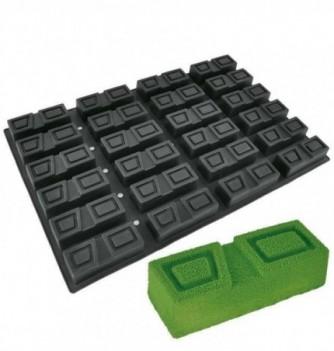 DECOFLEX 60x40 NOIR 24 rectangle rainuré