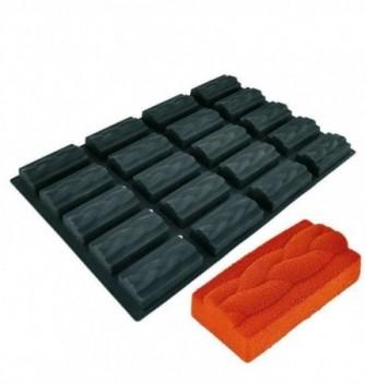 DECOFLEX 60x40 NOIR 20 rectangle tresse