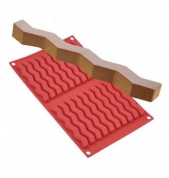 Moule silicone barre zigzag