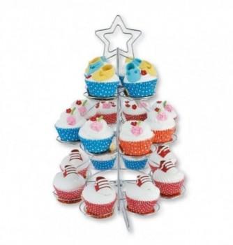 Présentoir à Cupcakes en Métal Sapin