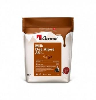 Chocolat Carma au lait Suisse Milk des Alpes 33%