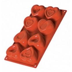 8 Plaques fritures chocolat noel assortis 35-55mm