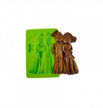 Silicone mold married couple 120*70*20mm- -3pcs