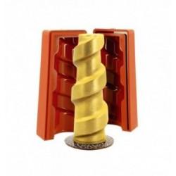 1 PLAQUE THERMOFORME plume 9pcs ht.6.5cm
