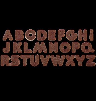 Alphabet striée ht.20x20mm