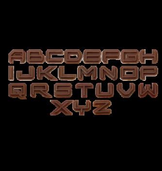 Alphabet relief 25x25mm