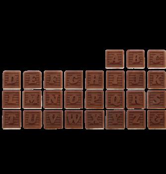 Alphabet carré relief 20x20mm