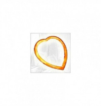 Silicone mold frame heart 170mm