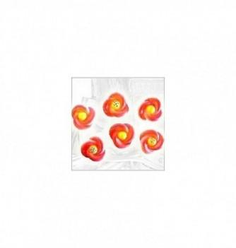 Silicone Mold - 6 Flowers Diam. 3.5 cm