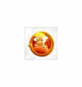 Moule Silicone 2 Bébés Lune 75x75x22mm