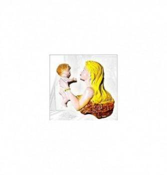 Moule Silicone Bébé avec Femme à Plat