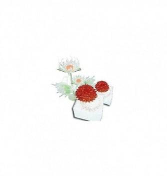 Moule Silicone Petit et Moyen Coeur de Fleur 40-60mm