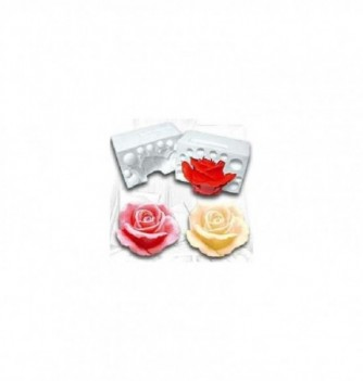 Moule Silicone Rose 3D diam.70mm
