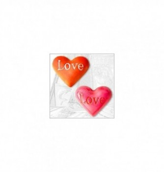 Silicone mold 2 hearts love 35mm