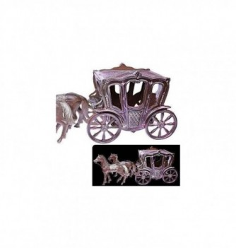 Silicone mold - horse drawn coach 260x135x200mm 7parts