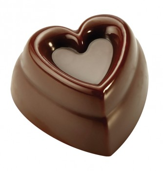 Chocolate mold - 21 Hearts 30x30x17 10 gr