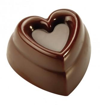 Moule Bonbon Chocolat Coeur Onde