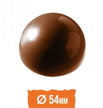 Chocolate mold half-sphere 6 pcs