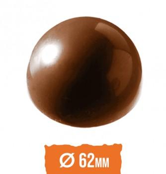 Chocolate mold half-sphere 62x31mm 6 pcs