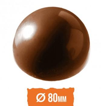 Chocolatemold - Half sphere diam.80mm 5 pcs
