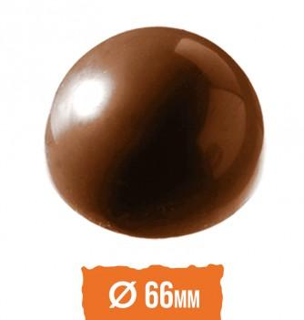 Chocolate Moldx6 - Half Spheres Diam. 66x33mm