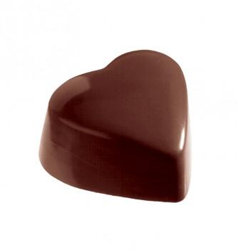 Moule Bonbon Chocolat Coeur Bombé Uni