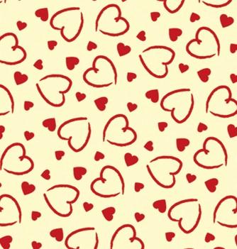 10 chocolate transfer sheets - hearts