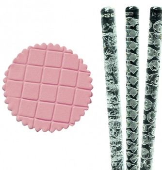 Relief Rolling Pin - Losanges- Diam 25mm