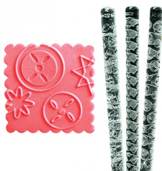Relief Rolling Pin - Geometric Shapes - Diam. 30mm