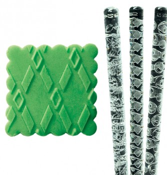 Relief Rolling Pin - Rectangle Shapes - Diam. 35mm