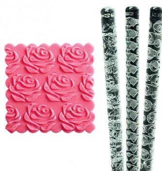 Relief Rolling Pin - Roses - Diam. 35mm
