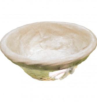 Basket round with canvas 180x80mm