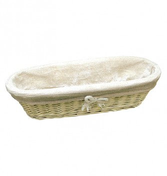 Basket long with canvas-360x130xh90mm