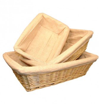 Basket rectangle with canvas 240x160x70mm