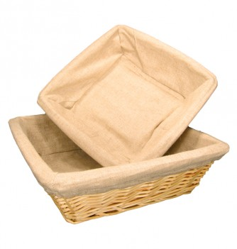 Basket square with canvas 280x280x90mm