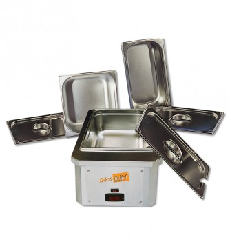Set of chocolate dipping machinewith recipient & lid 20 kg