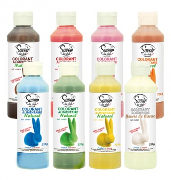 Natural Cocoa Butter Food Colors - Pack of 8