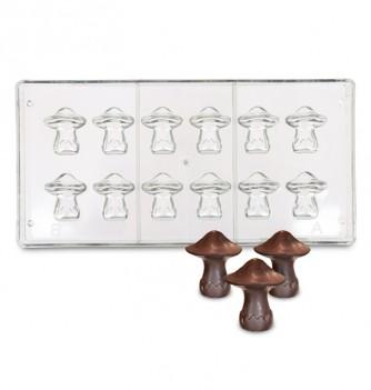 Moule chocolat en plastique injecté pour bonbon en forme de Champignons