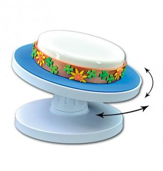 Cake display with turntable - H 12 cm diam. 28,5 cm