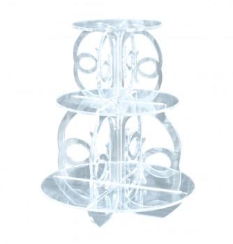 Cake Display Plexiglass - Design 45xH. 55 cm