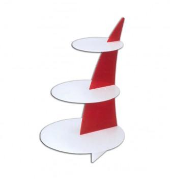 Cake display Voile 3 shelves Diam.340mmxh500mm