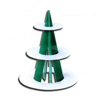 Cake display Pyramid 3 shelves Diam.420mmxh530mm