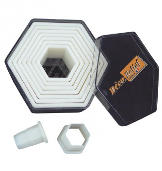 Pastry cutters 9 smooth hexagons