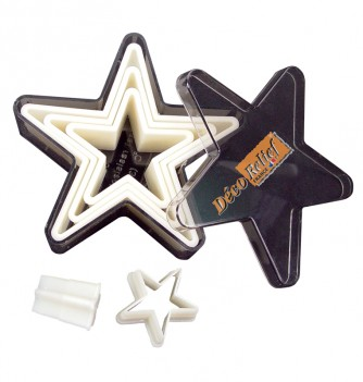 Pastry cutters 5 smooth stars