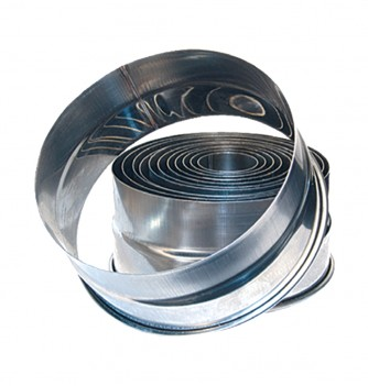 12 stainless steel smooth circle Cutters diam.27-140mm -...