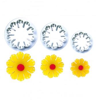 Plastic cutters 3 rosettes diam.48-42-32mm