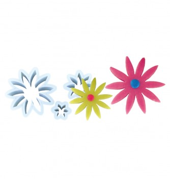 Plastic cutters 3 flowers 45-27-20mm